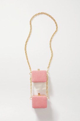 16Arlington Ralphie Double Mini Leather Shoulder Bag - Baby pink