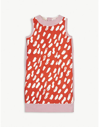 Marni Paintbrush effect cotton dress 6-14 years