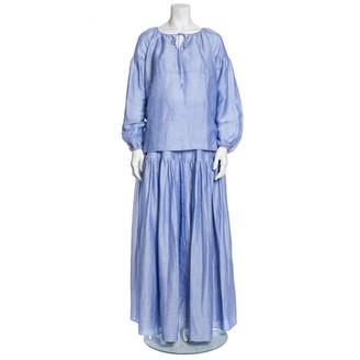 Co Blue Cotton Dress for Women