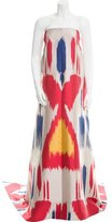 Osman Ikat Patterned High-Low Gown