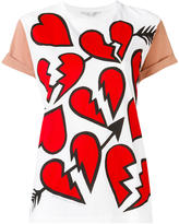 Stella McCartney hearts pattern T-shirt - women - Cotton - 38