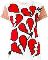 Stella McCartney hearts pattern T-shirt - women - Cotton - 42