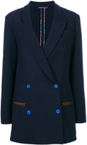 Etro knitted double-breasted blazer - women - Cotton/Polyamide/Spandex/Elastane/Wool - 40