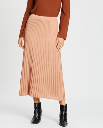 POL Clothing Scope Ribbed Pleat Skirt
