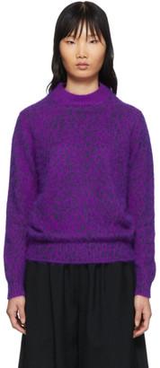 Comme des Garcons Purple Mink Finish Sweater