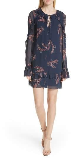 Derek Lam 10 Crosby Ikebana Floral Cluster Dress