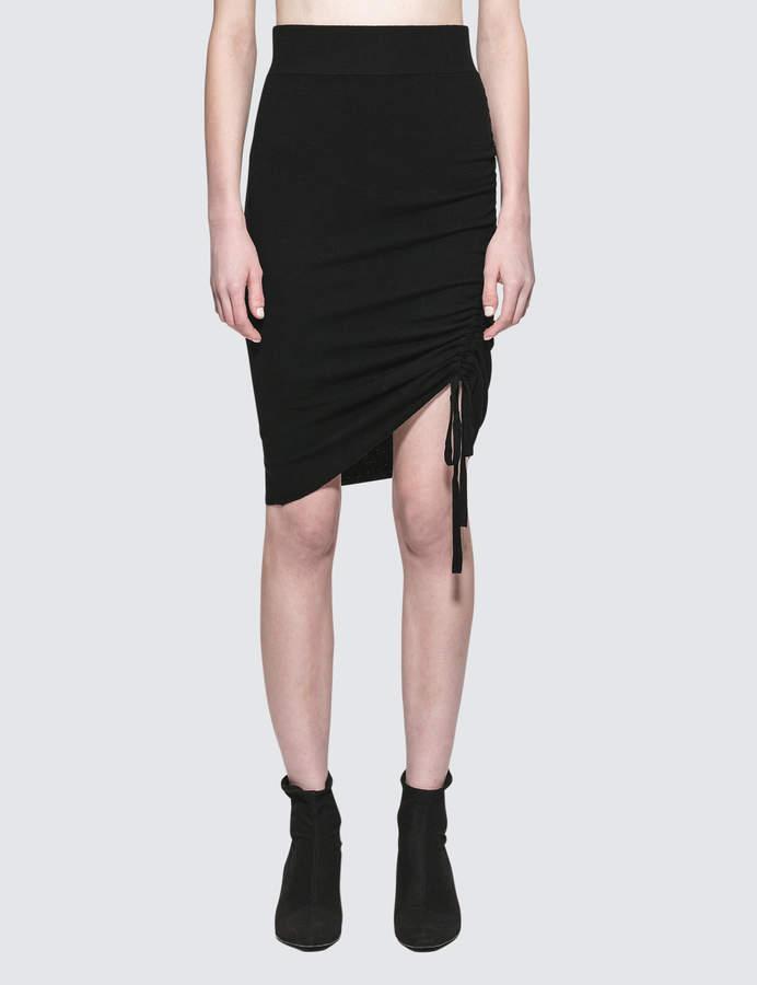 Alexander Wang Rusched Merino Pencil Skirt