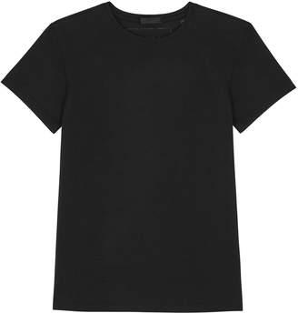 ATM Anthony Thomas Melillo Black Stretch-cotton T-shirt