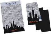 DESIGN IMPORTS Design Imports Chicago Set of 4 Kitchen Towels