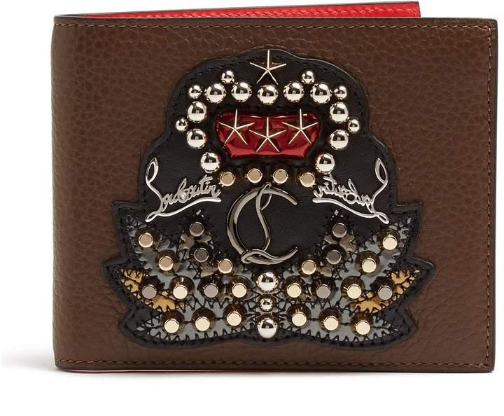 Christian Louboutin Kaspero embellished bi-fold leather wallet