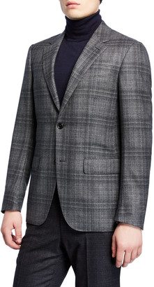Ermenegildo Zegna Men's Plaid Wool Regular-Fit Sport Coat
