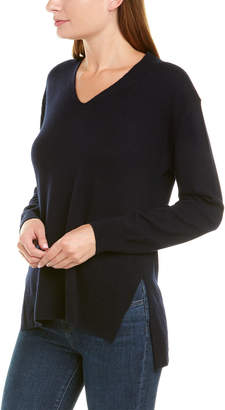 Vince Side Slit Wool & Cashmere-Blend Tunic