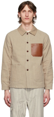Junya Watanabe Beige Linen Patched Jacket