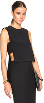 ADAM by Adam Lippes Banded Front Crop Shell