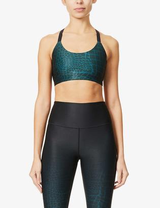 Good American Ombre leopard-print stretch-jersey sports bra