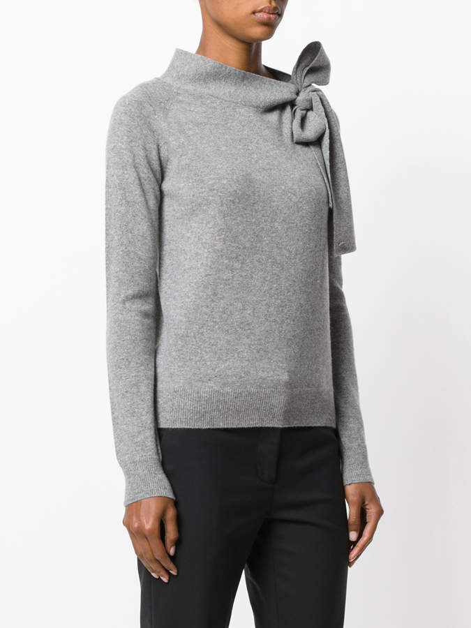 Ermanno Scervino bow embroidered knitted top