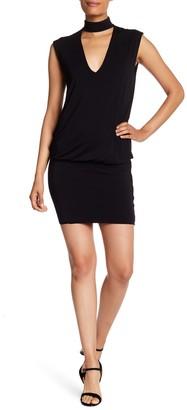 Bailey 44 Mock Neck V-Cutout Jersey Dress