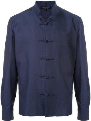 Shanghai Tang Frog Button Patch Pocket Shirt Jacket