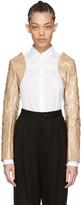 Comme des Garcons Beige PVC & Paper Bolero Jacket Sleeves
