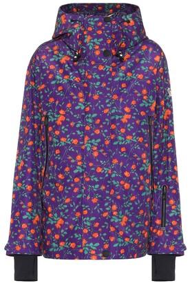 MONCLER GENIUS 3 Moncler Grenoble floral ski jacket