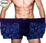 Warmword 4XL-8XL Men's Micro Modal Boxer Briefs Big and Tall Pack of 3
