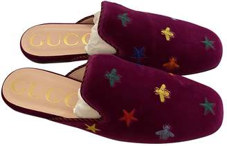 Gucci \N Purple Velvet Flats
