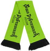 Gosha Rubchinskiy fringed scarf with logo