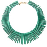 Kenneth Jay Lane Green Spike Necklace