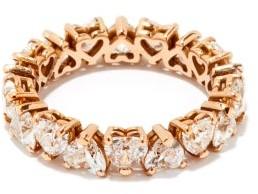 Shay Heart Diamond & 18kt Rose-gold Eternity Ring - Rose Gold