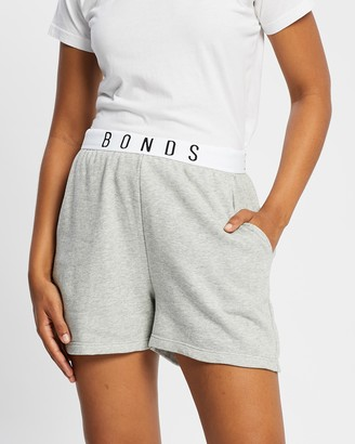 Bonds Women's Grey Shorts - Hi Logo Shorts - Size XS at The Iconic