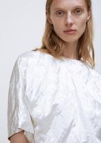 Jil Sander white corsage cono