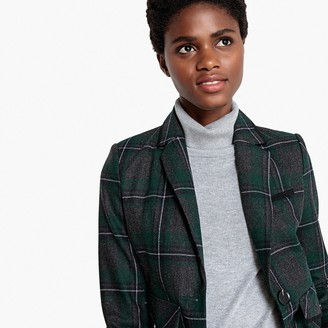 La Redoute Collections Checked Wool Blend Blazer