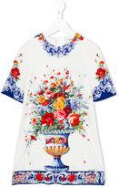 Dolce & Gabbana floral print dress - kids - Silk/Spandex/Elastane/Viscose - 4 yrs