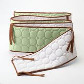 Bacati Quilted Lime & Chocolate Circles Bumper