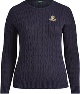 Ralph Lauren Bullion-Patch Cable Sweater