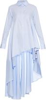Palmer Harding PALMER/HARDING Asymmetric step-hem cotton-poplin shirt