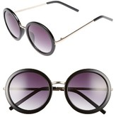 A. J. Morgan Women's A.j. Morgan 51Mm Round Sunglasses - Black
