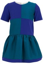 Roksanda Ilincic Green & Blue Puff Skirt Dress