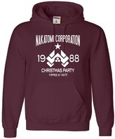 Go All Out Screenprinting Adult Nakatomi Corporation Christmas Party 1988 Funny Sweatshirt Hoodie