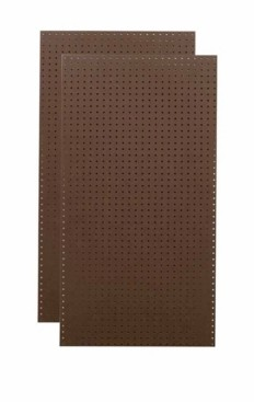 Triton Products Tempered Wood Pegboard Heavy Duty Brown Commercial Grade Tempered Round Hole Pegboards