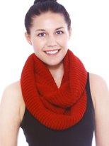 Simplicity Women's Winter Warm Knitted Infinity Loop Hood Scarf