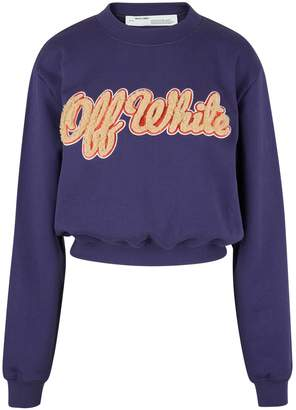 Off-White Off White Embroidered fur sweatshirt