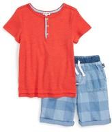 Splendid Boy's Henley T-Shirt & Shorts Set