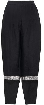 Nina Ricci Lace-trimmed Crinkled Woven Tapered Pants