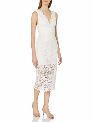 Jill Stuart Jill Women's Lace Deep-V Mid-Length Dress