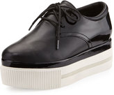 Ash Katia Lace-Up Platform Sneaker, Black