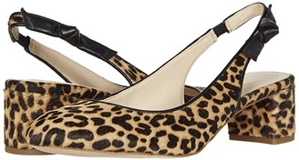 Cole Haan Lainey Pump (50 mm) (Mini Cheetah Haircalf Print Leather/Black Leather) Women's Shoes