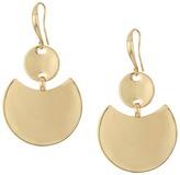Robert Lee Morris Gold Disc Drop Earrings