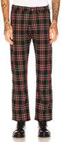 Enfants Riches Deprimes Wool Utility Trousers in Green,Checkered & Plaid.