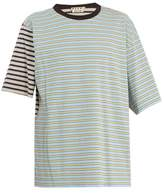 Marni Contrast-panel Striped Cotton T-shirt